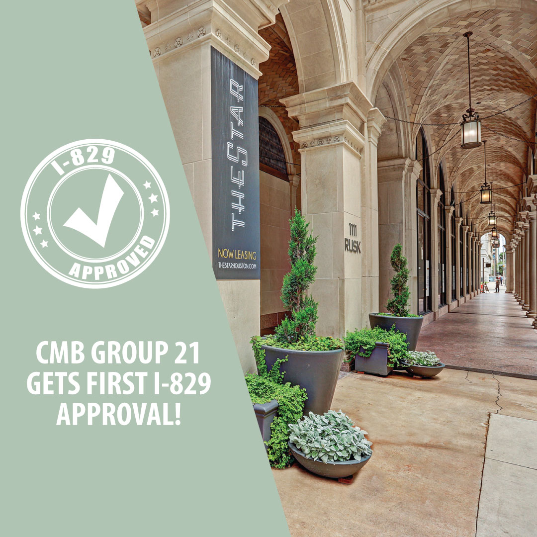 EB-5 News: CMB Regional Centers Reaches 23 Partnerships with an I-829 Approval